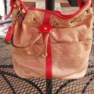 Pilcro leather bucket bag